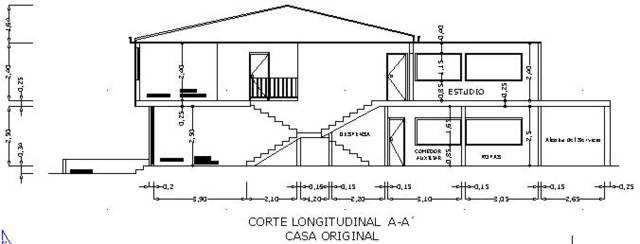 Planos y proyectos corte en dos plantas vivienda for Viviendas de dos plantas
