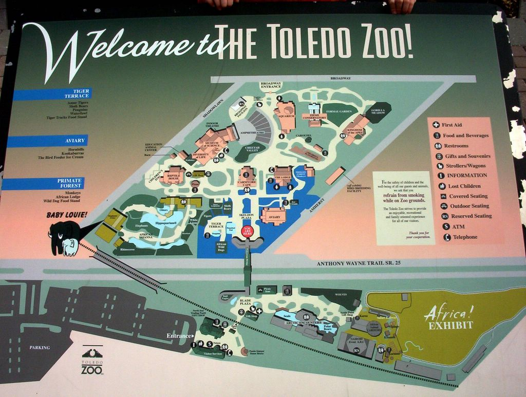 casesblog medical and health blog  the toledo zoo logo consists of two hippos check out the map there are actually two zoos connected by a walking bridge over the busy route 25