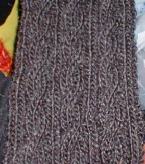 Free Cable Knitting Patterns For Scarves : Knit-O-Matic News: FREE basic cabled scarf pattern