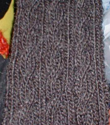 Free Cable Scarf Knitting Patterns : Knit-O-Matic News: FREE basic cabled scarf pattern