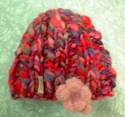 Biggy Print Toque Free Knitting Pattern from the Hats Free Knitting
