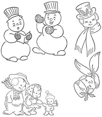 Knit O Matic News Gifted Free Snowman Vintage Embroidery Patterns