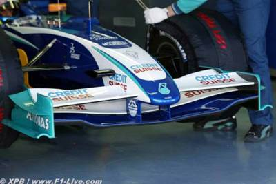 sauber front wing. [www.f1-live.com]