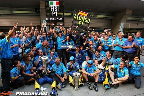 time to celebrate for renault [f1racing.net]