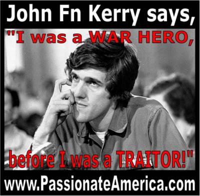 Passionate America Kerry WAR HERO before TRAITOR Shirt