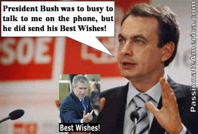 Bush's Best Wishes to Spain's Prime Minister