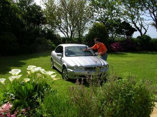Me washing the Jag