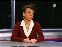 Oksana on 5kanal October 25, 2004