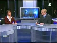 Oksana and Andrei Shevchenko on 5 Kanal october 25, 2004