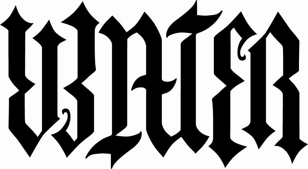 Janus water ambigram for Tattoos that say something different upside down