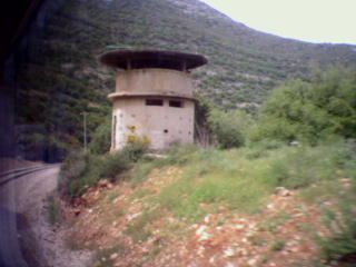 Abandoned British pillbox on the Jerusalem-Tel Aviv railroad line