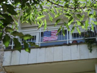 Flying the flag in honor of July 4th
