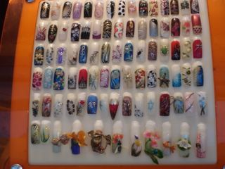 Selection of nails at local beauty salon