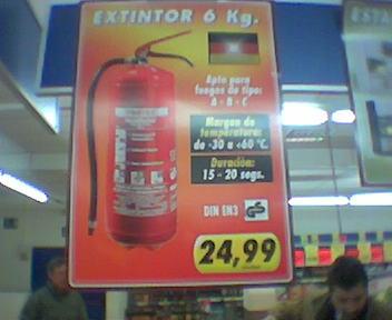 cuanto cuesta un extintor
