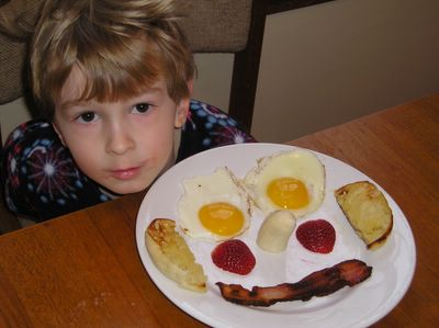 Brian with Mr. Breakfast Face