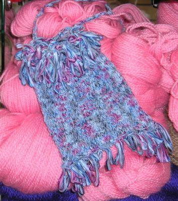 free ribbon bag pattern, Berroco Zen