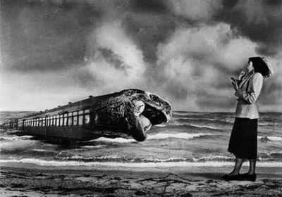 Grete Stern, On the platform, 1949