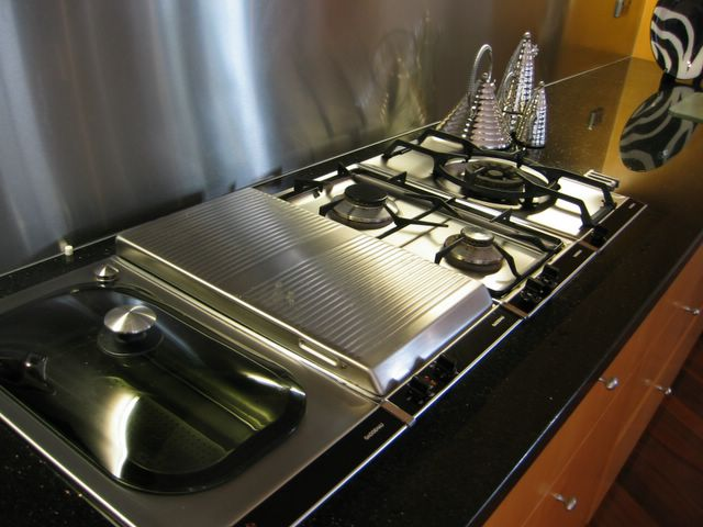 Nice What They Ended Up Buying That Day Was A Medley Of Gaggenau Appliances To  Make A Sophisticated Cooktop. From Left To Right We Have An Inbuilt  Steamer, ...