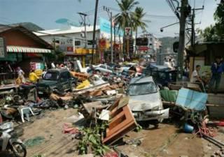 Tidal Wave damage in Phuket, Thailand (C)AP
