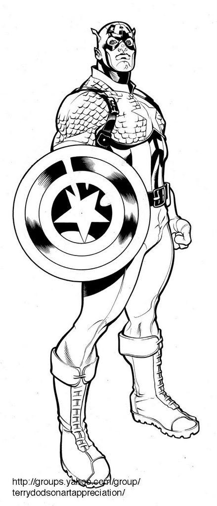 Dibujos Para Colorear Capitan America. Fabulous Dibujos Para ...