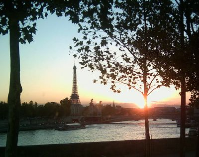 Sunset over the Seine