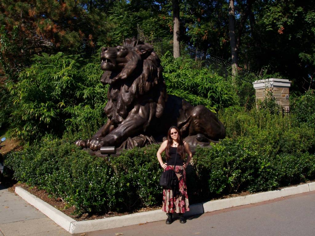 Me out the front of the National Zoo in Washington DC