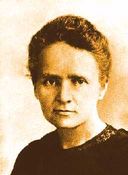 Marie Curie. (fonte: http://hum.amu.edu.pl/~zbzw/ph/sci/mariasc.jpg)