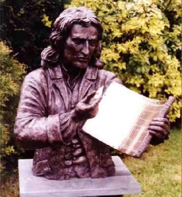 Relógio de Sol - Sir Isaac Newton. Fonte: http://www.btinternet.com/~john.davis/img42.jpg