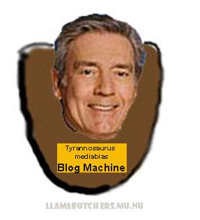 Piadinha dos blogueiros de direita: a cabeça de Dan Rather como troféu, abatido pela Blog Machine