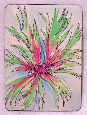 Mail Art ATC sent from Brenda Kratzer to Troy Thomas