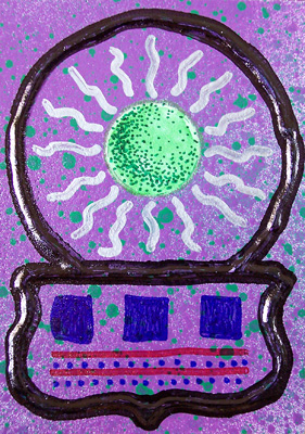 Mail Art ATC sent to Tim Scannell from Troy Thomas