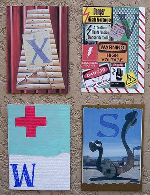 Mail art ATCs sent from RF Côté to Troy Thomas