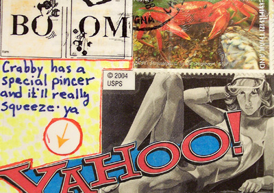 Mail Art ATC sent from Tim Scannell to Troy Thomas