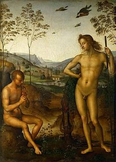 Apolo y Marsias. Perugino