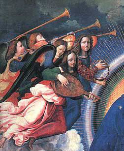 Coronación de la Virgen de Ghirlandaio (detalle)
