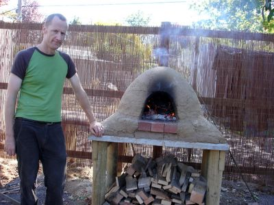 Picture of wood fired clay mud oven Photo