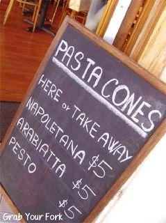 Pasta Shot blackboard