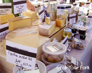 Simon Johnson cheeses, olives and deli goods