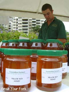 Yellow box honey at the Enniskillen Orchard stall