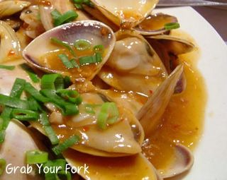 pippies in XO sauce