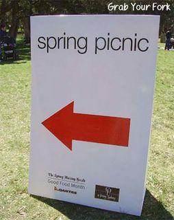 Spring Picnic sign