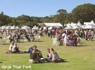 Spring Picnic stalls and crowds
