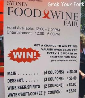 sydney food and wine fair sign