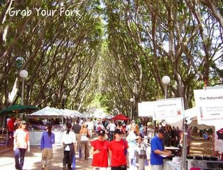 sydney food and wine fair stalls