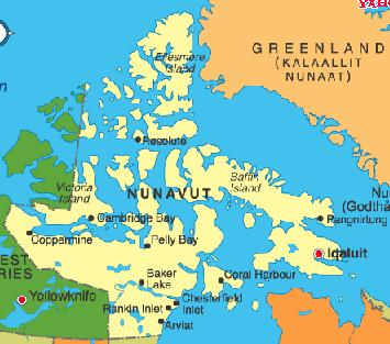 Down with pants geography 101 nunavut canada nunavut was formed in 1999 breaking away from the northwest territories as part of a settlement of inuit land claims for this major inuit homeland gumiabroncs Choice Image