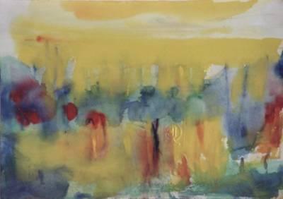 quadro di Antonio Corpora intitolato Alba su l'oasi