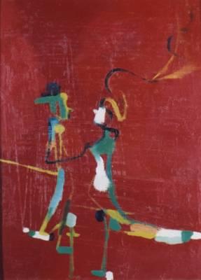 quadro di Marco Cingolani intitolato Conversazione
