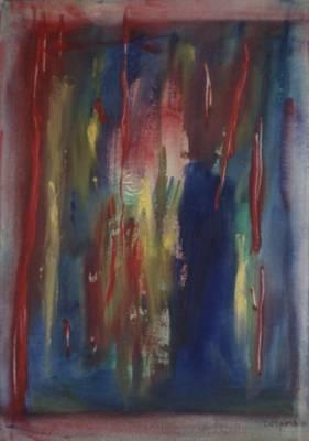 quadro di Antonio Corpora intitolato La notte a Siviglia