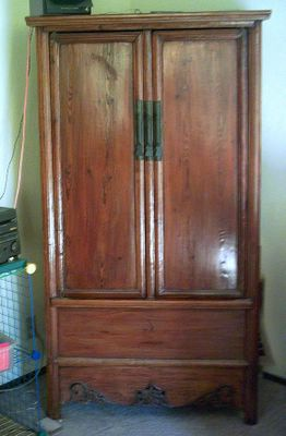 cupboard with closed doors