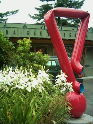 Bret Price sculpture with Daigle office